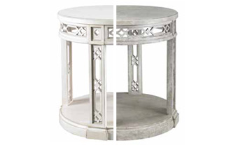 designers Mr. and Mrs. Howard product #MH10324 Pierced Fretwork Round Table